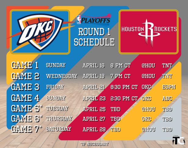 Round 1 Schedule - Rockets